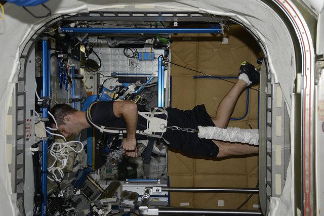 Tapis de course dans l'espace
